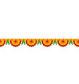 flower garland decoration toran for happy diwali vector image vector image