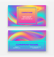 fluid shapes wavy liquid background bright vector image vector image