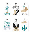 gift christmas and happy new year tags in vector image