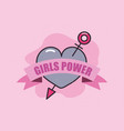 girls power card vector image