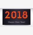 greeting card with the new coming 2018 the text vector image vector image