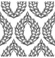 ikat seamless pattern in damask style vector image vector image