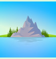 landscape with rock and forest vector image vector image