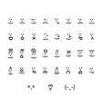large set typography smiley icons vector image