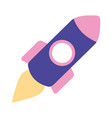 launching rocket space isolated image vector image