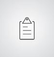 list outline symbol dark on white background logo vector image vector image