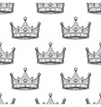 luxury crown pattern seamless background hand vector image