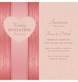 Modern wedding invitation pink vector image vector image