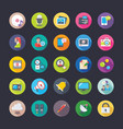 network and communications flat icons set vector image vector image
