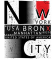 new york typography fashion style tee art vector image vector image