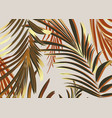 palm leaves with golden glitter in modern design vector image