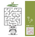 panda maze game - help hungry panda find right way vector image vector image