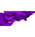 purple streaming fabric abstract background vector image