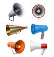 realistic megaphone communication stuff vector image