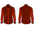 Red shirt vector image vector image