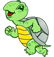 running turtle vector image