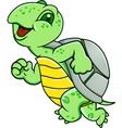 Running turtle vector image
