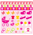 scrapbook elements with children accessories vector image vector image