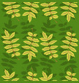seamless pattern with rowan leaves graphics vector image