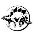silhouette of mascara dinosaur stigosaurus vector image vector image