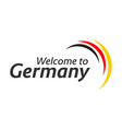 simple symbols welcome to germany vector image vector image