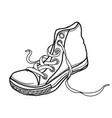 sketch shoes vector image