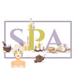 spa salon poster beauty vector image vector image