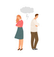 spouses offended family quarrel vector image vector image