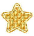 star tag japanese rounded lines pattern image vector image