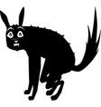 surprised black dog vector image vector image