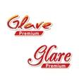 Text Logo Glare premium vector image vector image