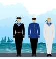 uniforms sailors tsarist russia vector image vector image
