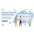 unique selling proposition landing page template vector image