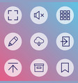 user icons line style set with silence pencil vector image