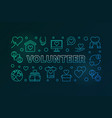 volunteer outline colored or vector image
