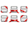 white square badge vector image vector image