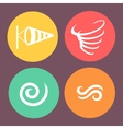 Wind icons on round buttons vector image vector image