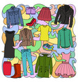 woman clothes colorful pattern vector image vector image
