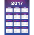 New Year Calendar 2017 Monday First vector image