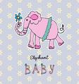 Abstract background children art elephant vector image
