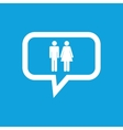 Man woman message icon vector image