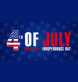 4 july independence day usa navy blue vector image vector image
