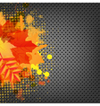 Abstract Metal Background With Orange Blob And vector image vector image