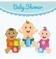 Baby boy and girl cartoon design vector image