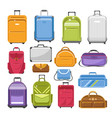 bags different type models of travel fashion or vector image vector image