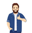 big man gesturing ok sign vector image vector image