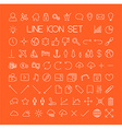 Big modern thin line icon set vector image