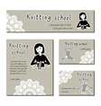 Black-white cards template for knitting vector image vector image