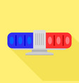 blue red flasher icon flat style vector image