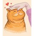 cat hand vector image
